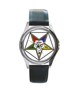 ORDER OF THE EASTERN STAR MASONIC SILVER-TONE WATCH - $25.99