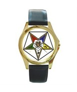ORDER OF THE EASTERN STAR MASONIC GOLD-TONE WATCH - $25.99