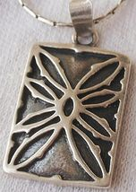 Flower silver pendant - $30.00