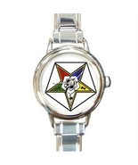ORDER OF THE EASTERN STAR MASONIC CHARM WATCH -... - $23.99