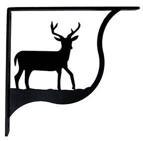 "Primary image for Wall Shelf Bracket Pair Of 2 Deer Pattern Wrought Iron 7.25"" L Crafting Accent"