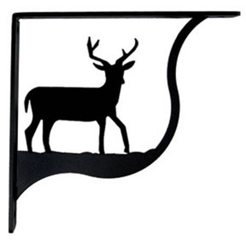 "Primary image for Wall Shelf Bracket Pair Of 2 Deer Pattern Wrought Iron 9.25"" L Crafting Accent"