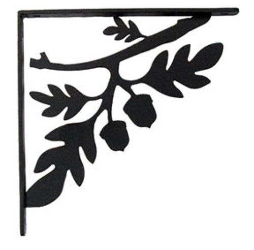 "Primary image for Wall Shelf Bracket Pair Of 2 Oak Leaf & Acorn Wrought Iron 7.25"" L Crafting"
