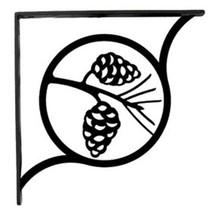 "Wall Shelf Bracket Pair Of 2 Pinecone Pattern Wrought Iron 5.25"" L Crafting - $37.99"