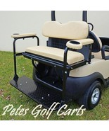 Rear Flip Seat Kit For Club Car Precedent Golf Carts In Black White or B... - $264.99+