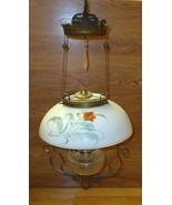 Custom Made  Vintage Oil Lamp Chandelier with C... - $264.58