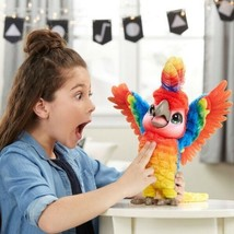 FurReal Rock-A-Too The Show Bird Interactive Plush Fur Real Parrot Macaw - $59.99