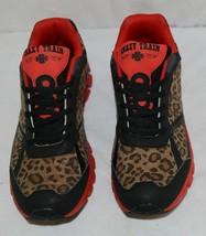 Crazy Train RUNWILD14 Black Red Cheetah Sneakers Size Ten image 2
