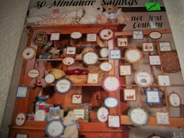 50 Miniature Sayings in Counted Cross Stitch - $4.00