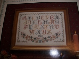 Alphabet Cross Stitch Chart - $5.00