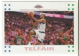 Sebastian Telfair Topps Chrome 07-08 #84 White Refractor #'d 99 OkC Thunder - $3.25