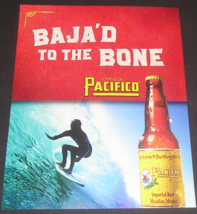 2003 Pacifico Beer Magazine Ad Baja'd to the Bone, Surfing Baha Cerveza ... - $12.99
