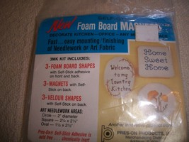 Foam Board Magnets Kit: Comes with Foam Shapes, Magnets, Velour Shapes - $4.00