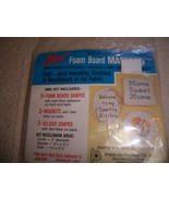 Foam Board Magnets Kit: Comes with Foam Shapes, Magnets, Velour Shapes - $2.50