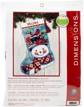 "Dimensions Stocking Needlepoint Kit 16"" Long-Seasonal Snowman Stitched I... - $45.60"