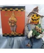 "Fiber Optic Sitting Scarecrow 30"" Poseable With Box Plug Halloween Haunt... - £44.16 GBP"
