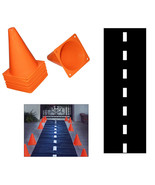Hot wheels Birthday Party Race Track Safety Cones Nascar Party Decoratio... - $14.01
