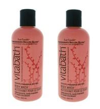 2X Vitabath Bath & Shower Gel Body Wash Pomegranate Bellini Blush 12 oz Ea=720ml - $34.64
