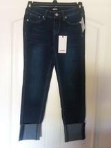Hudson Girls Skinny Jeans Sz 10 Convertible Stretch Raw Hem Adj. Waist B... - $20.32