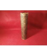 """Antique Leather Bound Book Methodist Hymns 1849 Brown 4 1/4"""" X 61/4"""" w/ ... - $79.15"""