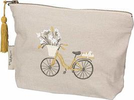 Primitives by Kathy 39885 Embroidered Zipper Pouch, Small, Adventure Awaits - $19.95
