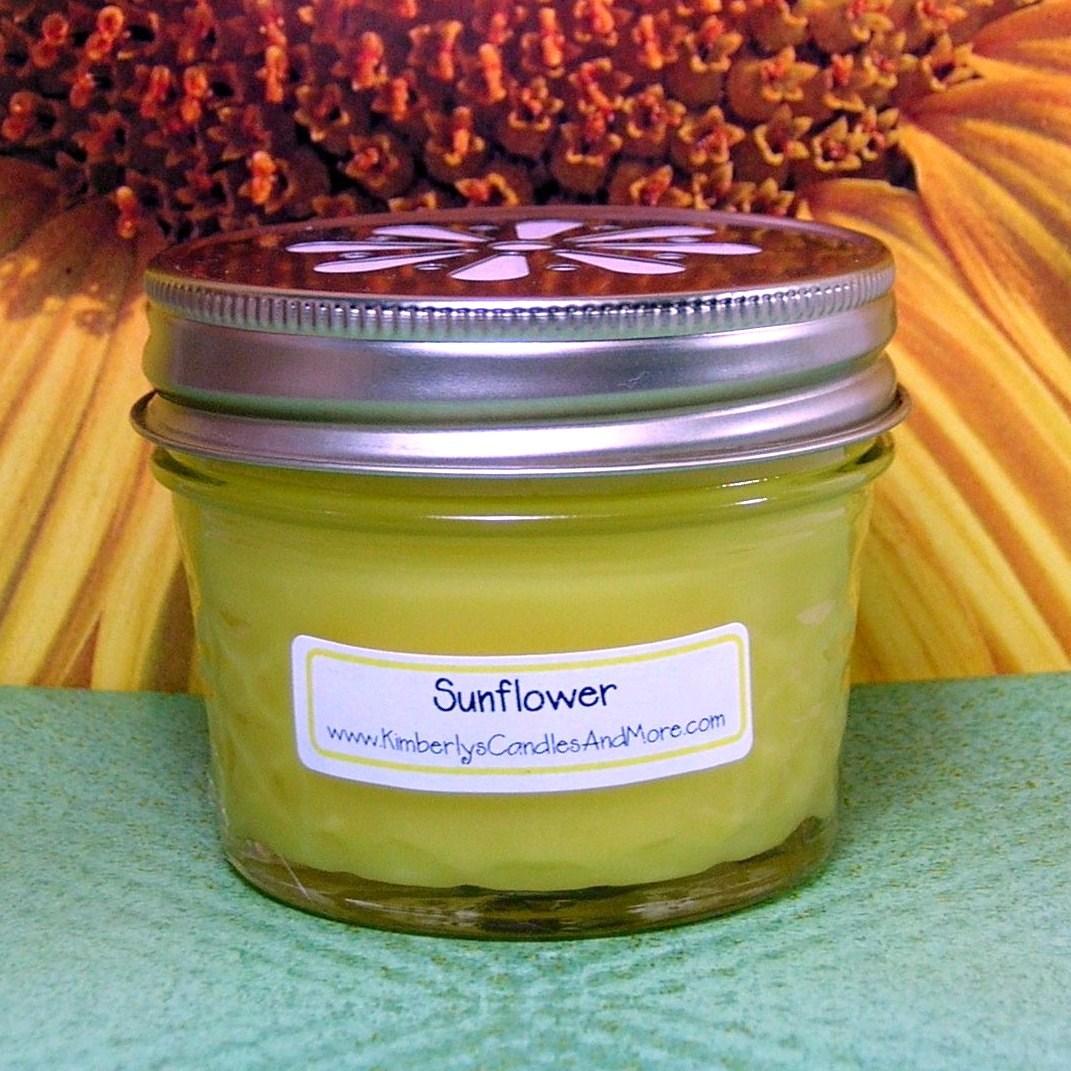 Jelly jar sm sunflower 1