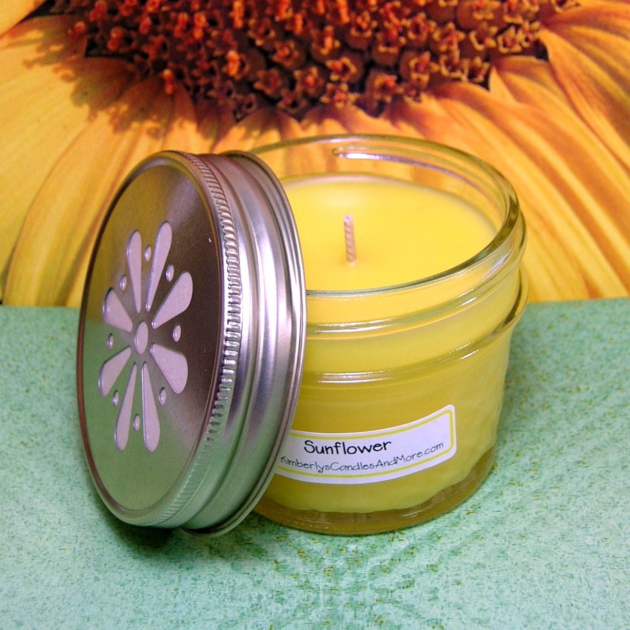 Sunflower 4 oz. Jelly Jar Candle