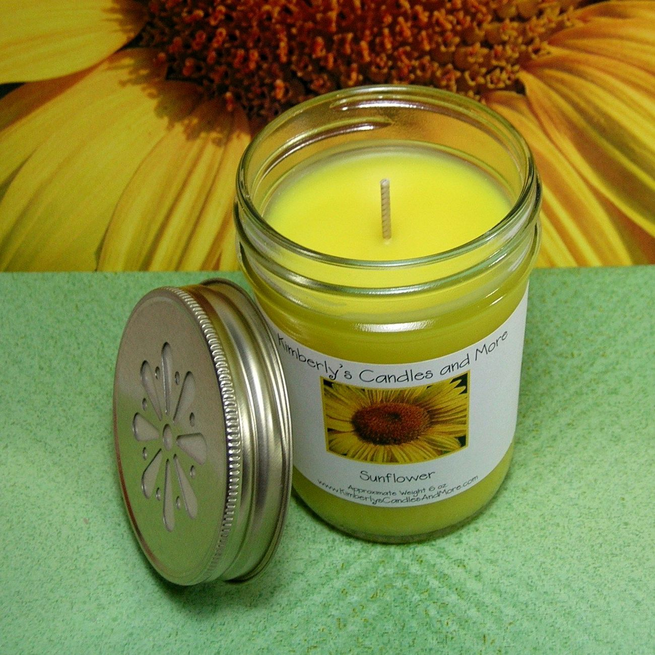 Sunflower Jelly Jar Candle