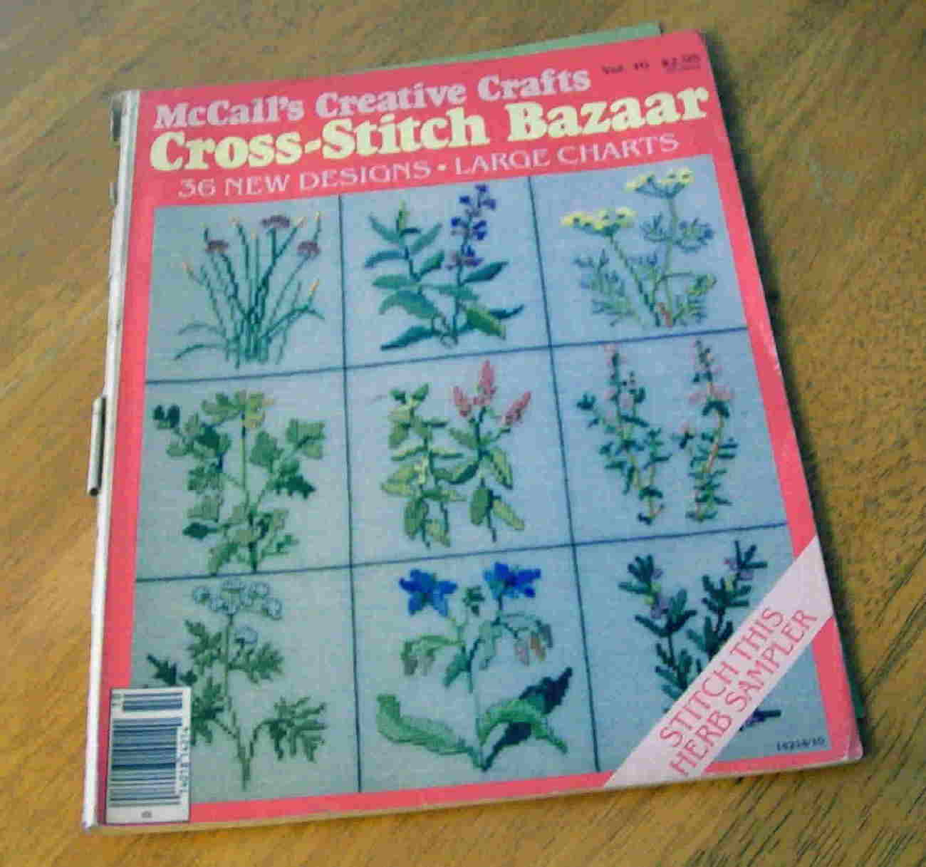 McCall's Cross Stitch Bazaar, Vintage, June 1984