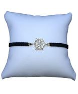 Snowflake Braided Bracelet, Black Cord - $12.99
