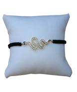 Snake Braided Bracelet, Black Cord - $12.99