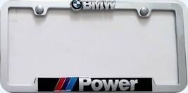 BMW Power License Frame- No Rust Chrome Metal  - $29.00