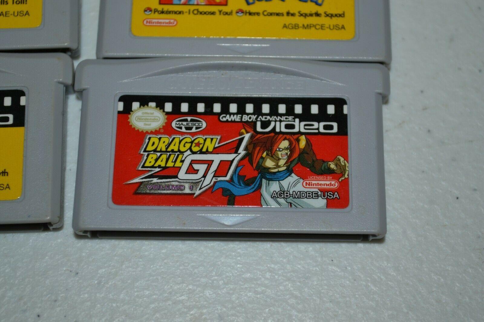Pokemon Video Nintendo Game Boy Advance LOT of 3 Plus Dragonball GT GBA