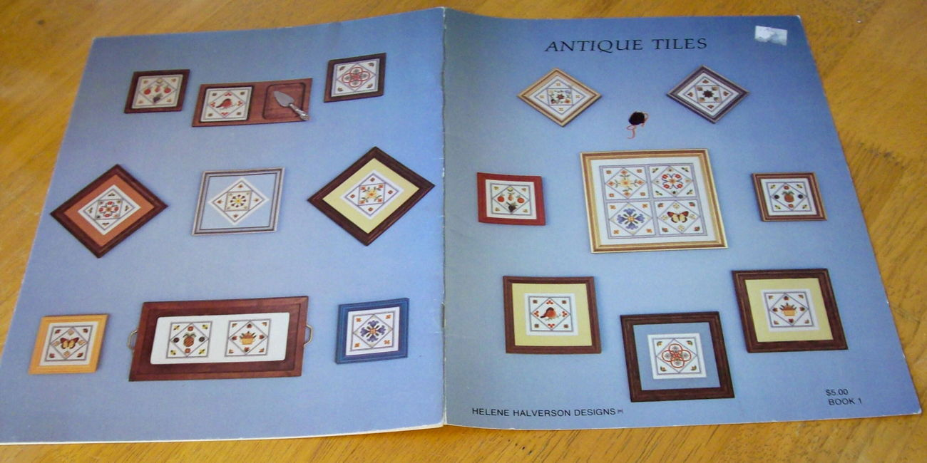 Antique Tiles Cross Stitch by Helene Halverson