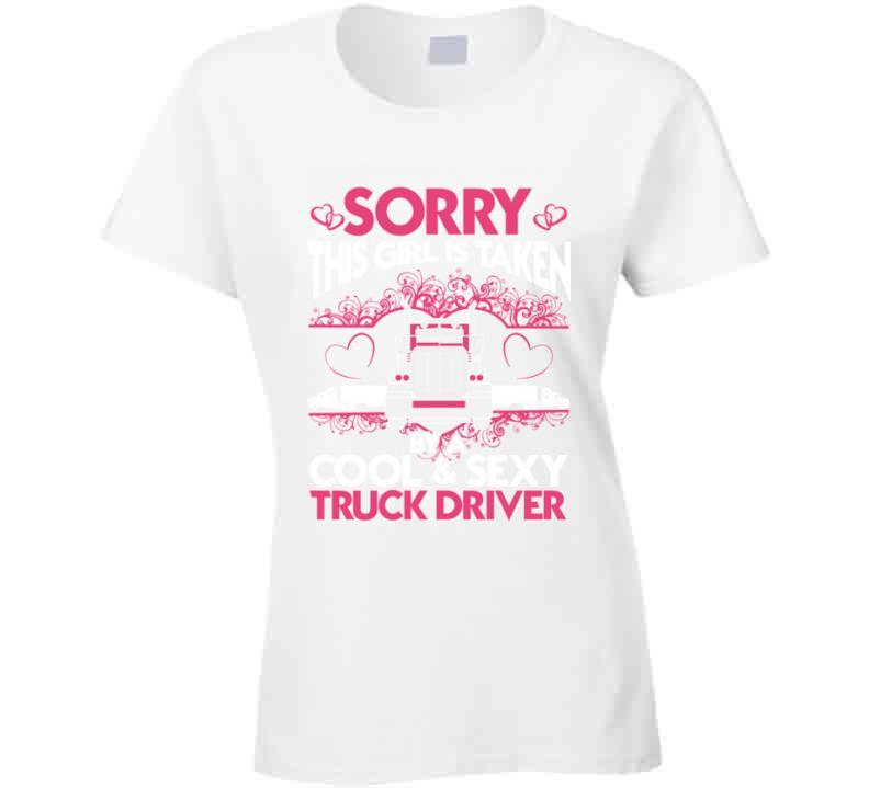 Truck Driver Trucker Girlfriend Funny Tshirt