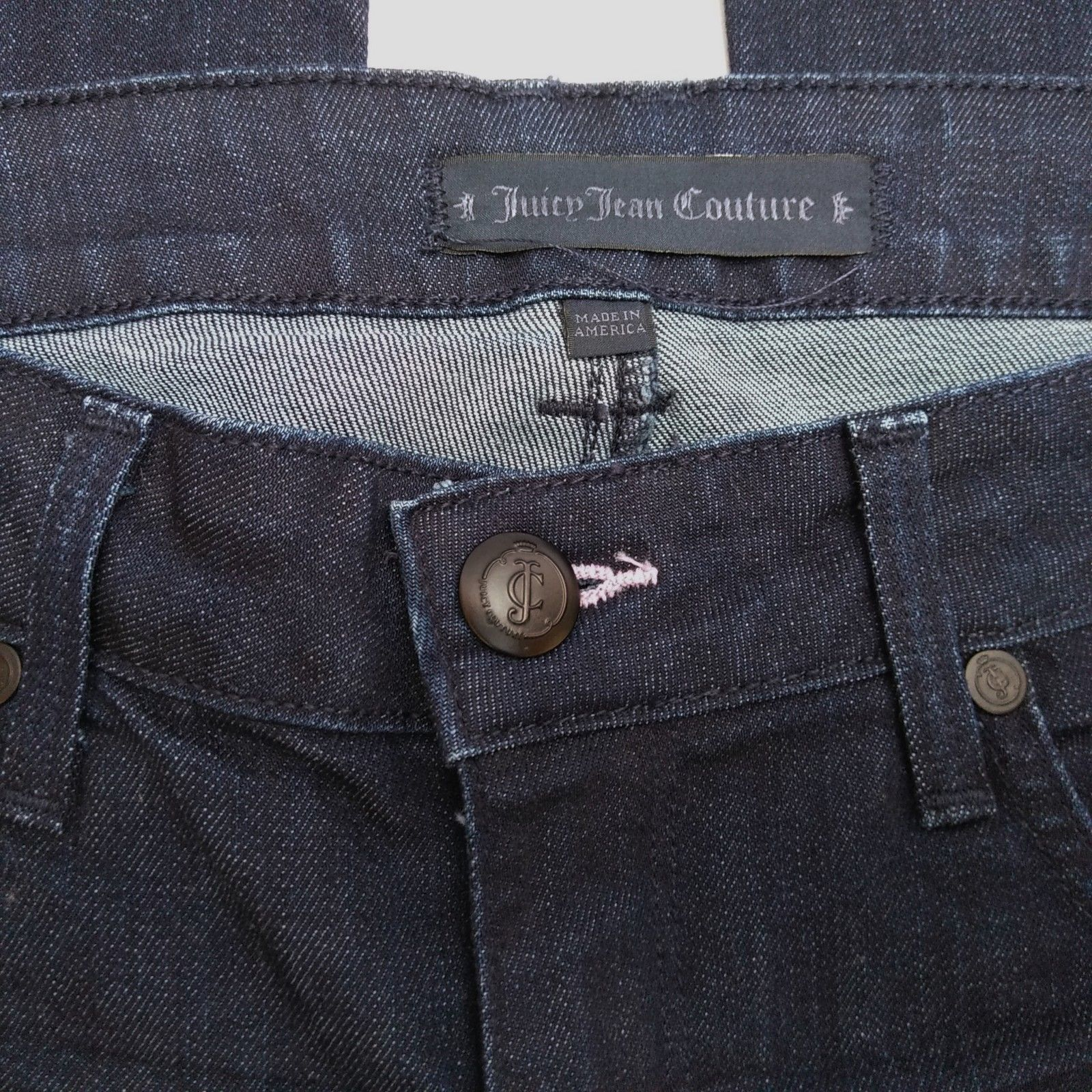 Juicy Jean Couture High Rise Flare Womens Jeans Size 28 Long Dark Wash    image 5