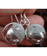 925 Silver & Ying Yang Chime Ball Earrings CBE-138-DG - $23.49