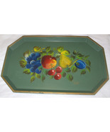 Vintage Nascho New York Hand Painted Toleware Metal Tray Free Shipping U... - $30.25