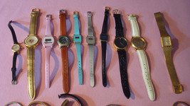 Watches lot of 27, Watch Pieces, Watch Bands, Vintage Clocks, Parts, Jewelry Ass - $220.00
