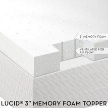"""3"""" Lucid® by LinenSpa Memory Foam Mattress Topper 3-Year Warranty - $499.99"""