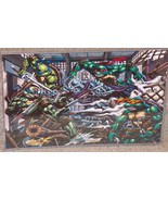 Teenage Mutant Ninja Turtles vs Shredder Glossy Print 11 x 17 In Plastic... - $24.99