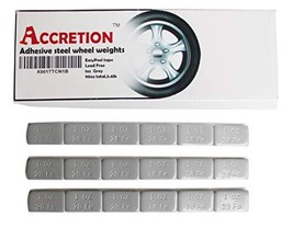 Accretion 1 Oz, Grey Wheel Weights Lead Free. USA Made White Tape Backin... - $28.38