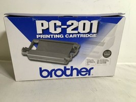 NEW GENUINE - BROTHER PC-201 BLACK PRINT CARTRIDGE - FAX-1270, MFC-1780 - $10.22