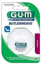 GUM ButlerWeave Waxed Dental Floss mint Flavor 55 m / 60 yd - $7.00