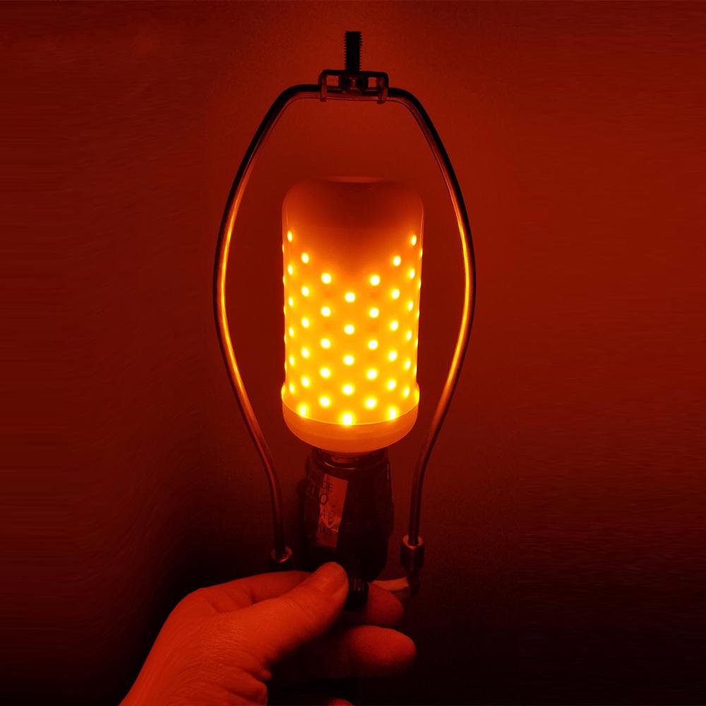 E27 4W SMD2835 1595K Two Modes Warm White 99LEDs Flicker Flame Corn Light Bulb A
