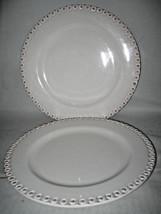 American Atelier BIANCA BEAD Dinner plates excellent 2-pcs - $17.15