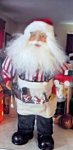 "16"" Vintage Santa with toolbelt and paint brush - $14.89"