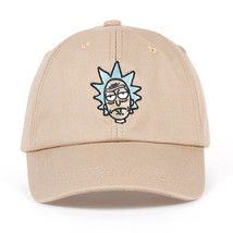 Rick and Morty Khaki Black Dad Hat Crazy Rick Baseball Cap American Cotton - $9.87