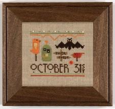 A Smidge of Halloween cross stitch chart Heart in Hand - $12.60
