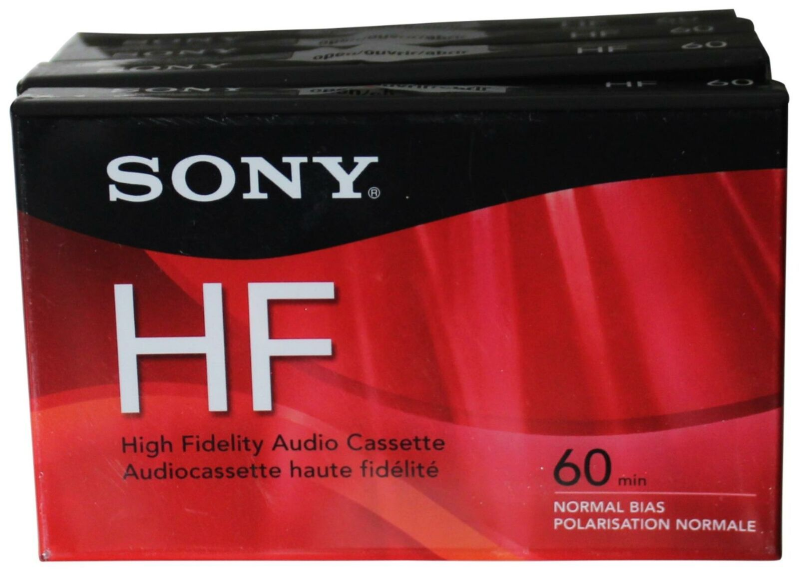 LOT Of 4 BLANK CASSETTE TAPES All Sealed NEW Sony HF 60 Minutes Mins Normal Bias - $18.69
